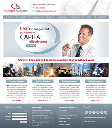 Camargo Associates Website Design