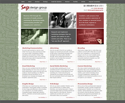 Sage Design Group Web Design