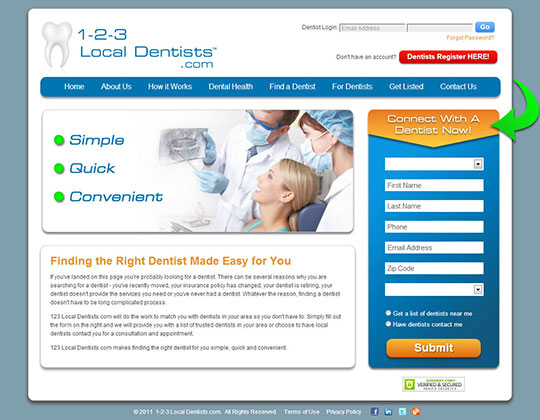 Local Dentist Site Design
